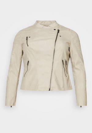 CARAVANA BIKER  - Faux leather jacket - pelican