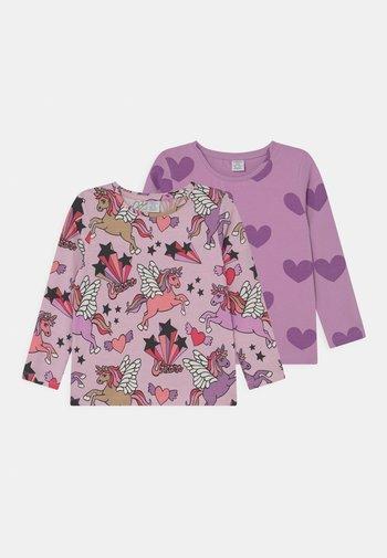 MINI PRINTED 2 PACK - Pitkähihainen paita - dusty pink