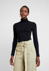 Anna Field - BASIC - T-shirt à manches longues - black - 0
