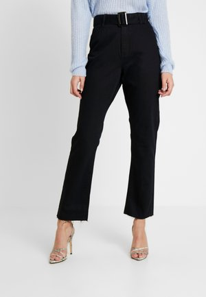 TORTOISE BUCKLE - Jeans straight leg - black