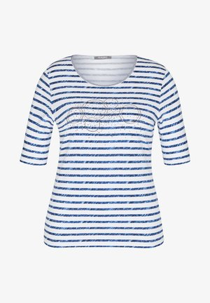 MIT STRASS-STEINEN UND STREIFEN - Print T-shirt - dunkelblau