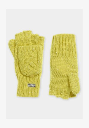 Fingerless gloves - vivid yellow