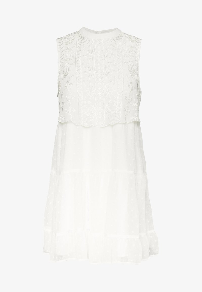 Miss Selfridge Petite - DOBBY BIB SMOCK DRESS - Vestido informal - ivory
