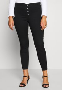 Lost Ink Plus - BUTTON FRONT  - Jeans Skinny Fit - black - 0
