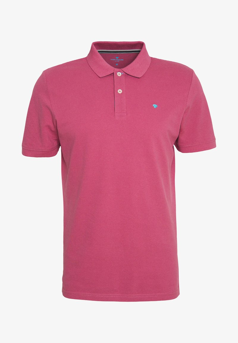 TOM TAILOR BASIC WITH CONTRAST - Poloshirt - gipsy purple/rot F1Dmjr
