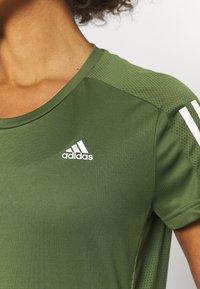 adidas Performance - OWN THE RUN TEE - Print T-shirt - khaki - 4