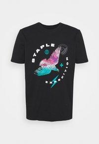 WATERCOLOR TEE UNISEX  - Print T-shirt - black