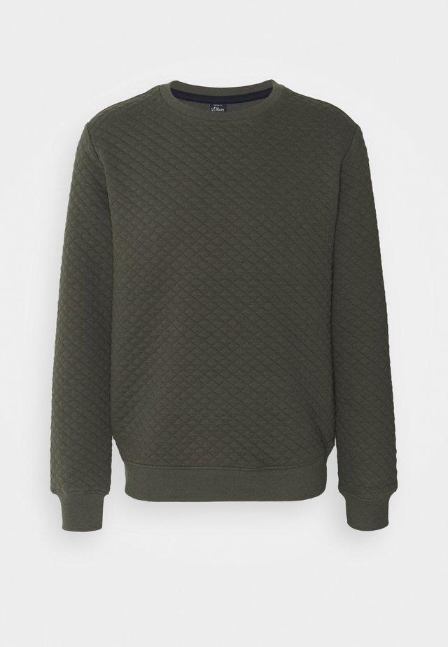 LANGARM - Sweatshirt - khaki/oliv