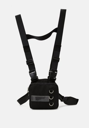CHEST UTILITY HARNESS - Sac banane - black