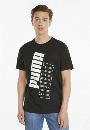 MAND - Print T-shirt - puma black