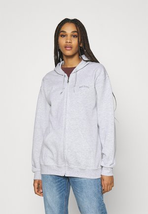 ZIP THROUGH HOODIE - Hoodie met rits - grey marl