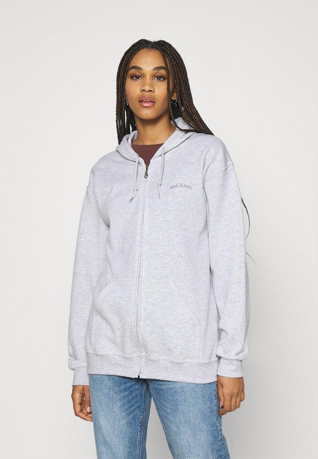 ZIP THROUGH HOODIE - veste en sweat zippée - grey marl