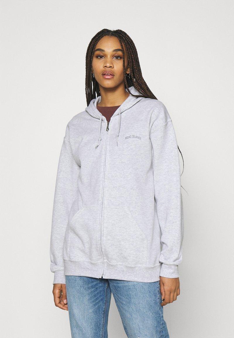 BDG Urban Outfitters - ZIP THROUGH HOODIE - Zip-up hoodie - grey marl