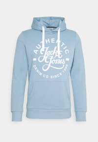 JJHEROS HOOD - Bluza z kapturem - faded denim