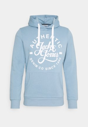 JJHEROS HOOD - Jersey con capucha - faded denim