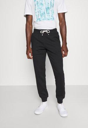 3 PACK - Pantalon de survêtement - mottled light grey/mottled dark blue/black