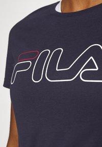 Fila - LADAN TEE - Print T-shirt - black iris - 4