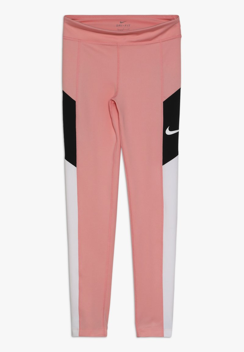 Nike Performance - TROPHY - Legginsy - bleached coral/white/black