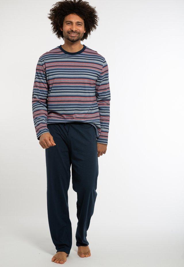 Pyjamas - dunkelblau / blau gestreift