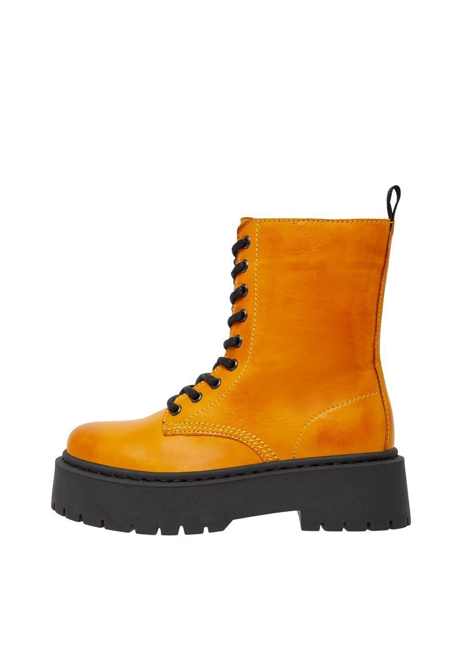 Bianco Biadeb Laced Up Boot - Plateaustøvletter Mustard