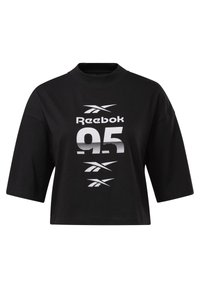 Reebok - MYT GRAPHIC T-SHIRT - Print T-shirt - black - 0