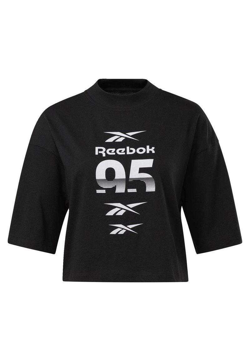 Reebok - MYT GRAPHIC T-SHIRT - Print T-shirt - black