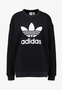 adidas Originals - ADICOLOR TREFOIL LONG SLEEVE - Mikina - black/white - 3