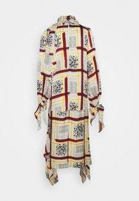 Mother of Pearl - NECK DRESS WITH TIE CUFFS - Vapaa-ajan mekko - burgandy / check - 1