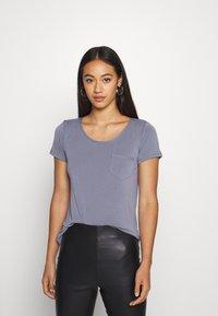 Soaked in Luxury - COLUMBINE TEE - Basic T-shirt - flint stone - 0