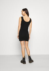 Even&Odd - BASIC JERSEYKLEID - Shift dress - black - 2