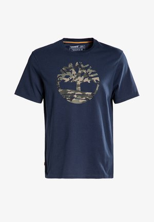 SS KENNEBEC RIVER CAMO TREE - T-shirt z nadrukiem - dark sapphire
