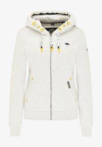 Schmuddelwedda - SWEATJACKE - Zip-up sweatshirt - wollweiss melange - 4