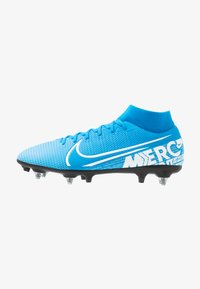 Nike Performance - MERCURIAL 7 ACADEMY SG-PRO AC - Screw-in stud football boots - blue hero/white/obsidian - 0