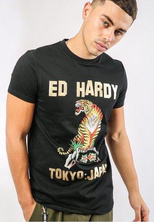 TIGER-MOUNTAIN T-SHIRT - T-shirt print - black