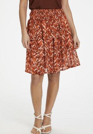 A-line skirt - texture print, sunburn