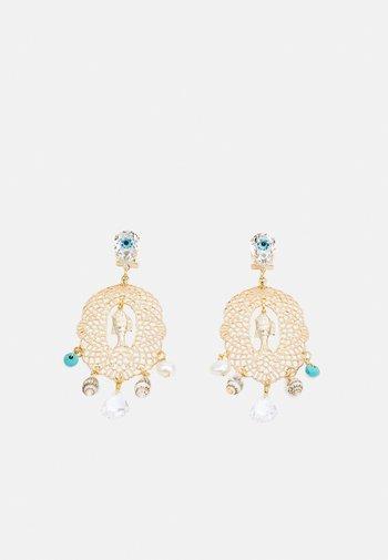 FILIGREE WITH EVIL EYE CHANDELIER - Earrings - gold-coloured