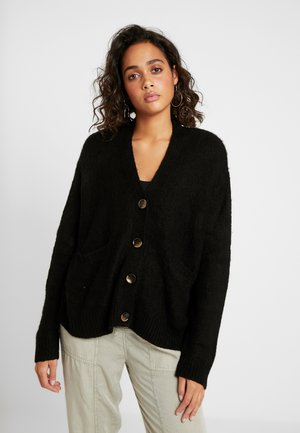 KATE BRUSHED CARDI - Cardigan - black