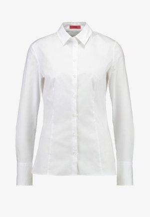 ETRIXE - Button-down blouse - open white