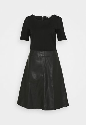 FLARED DRESS - Day dress - black