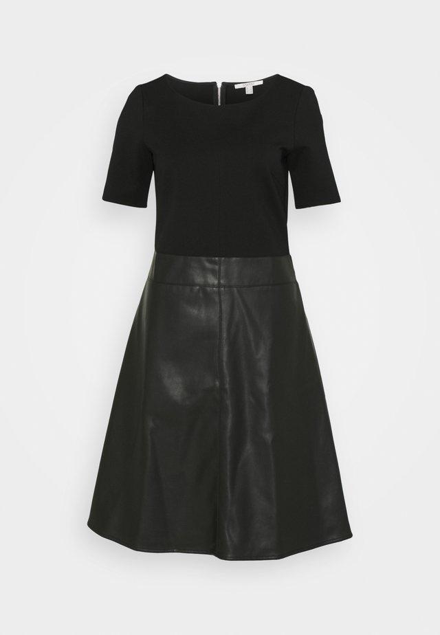 FLARED DRESS - Day dress - black