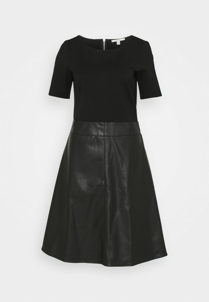 Esprit - FLARED DRESS - Day dress - black