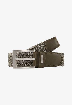 Braided belt - olive uni