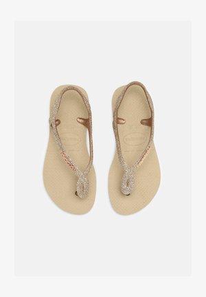 LUNA PREMIUM - T-bar sandals - sand grey
