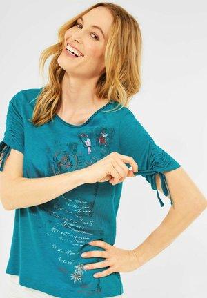 MIT FOTOPRINT - Print T-shirt - türkis