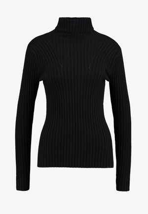 ERICA SLIM ROLL NECK - Strikkegenser - black