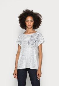 Esprit - STRAPBOW - Print T-shirt - off white - 0