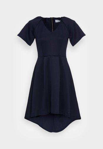 CLOSET V NECK GATHERED DRESS - Vestido ligero - navy