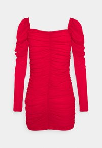 Missguided Petite - RUCHED MINI DRESS - Shift dress - red - 1