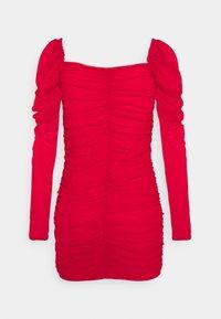 Missguided Petite - RUCHED MINI DRESS - Sukienka etui - red - 1