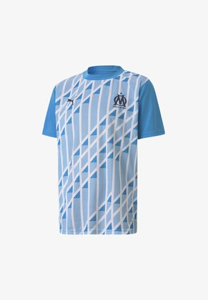 Print T-shirt - bleu azur-puma white